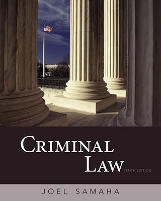 Criminal Law - Samaha, Joel