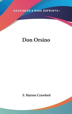 Don Orsino - Crawford, F Marion