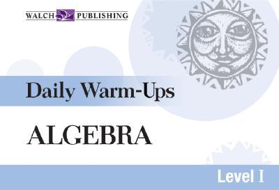 Daily Warm-Ups for Algebra - Martin, Hope, Dr.