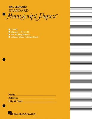 Standard Manuscript Paper ( Yellow Cover) - Hal Leonard Publishing Corporation (Editor)