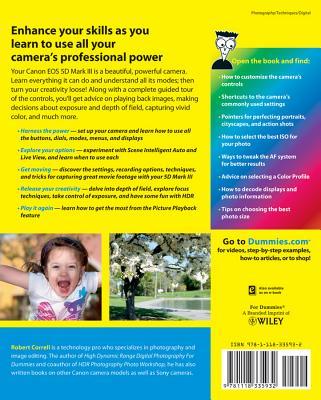 Canon EOS 5d Mark III for Dummies - Correll, Robert