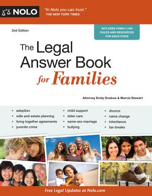 The Legal Answer Book for Families - Doskow, Emily, and Stewart, Marcia