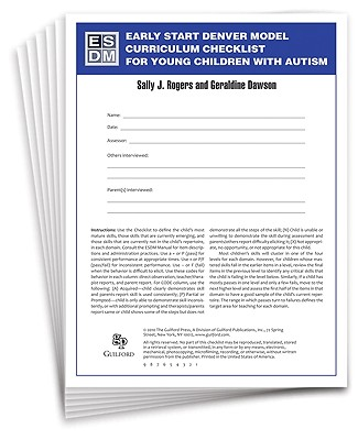 Early Start Denver Model Curriculum Checklist for Young Children with Autism - Rogers, Sally J, Dr., PhD, and Dawson, Geraldine, PhD