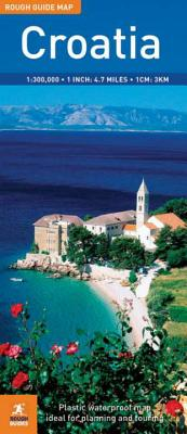 The Rough Guide to Croatia Map - Rough Guides