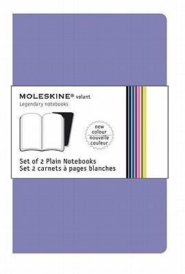 Moleskine Volant Notebook Plain, Purple Xsmall - Set of 2 - Moleskine