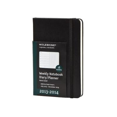 Moleskine 2014 Planner 18 Month Weekly Notebook Black Soft Cover Large (18 Month Diary) - Moleskine
