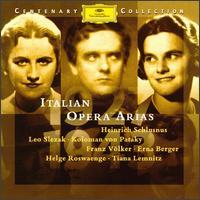 Italian Opera Arias - Alda Noni (soprano); Alfons Fügel (tenor); Erna Berger (soprano); Franz Völker (tenor); Georg Hann (bass);...