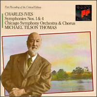 Ives: Symphonies Nos. 1 & 4; Hymns - Mary Sauer (piano); Richard Webster (organ); Chicago Symphony Chorus (choir, chorus); Michael Tilson Thomas (conductor)