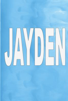 """Jayden: 100 Pages 6"""" X 9"""" Personalized Name on Journal Notebook - Rwg"""