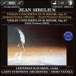 Jean Sibelius: Violin Concerto in D minor (Original Version); Violin Concerto in D minor
