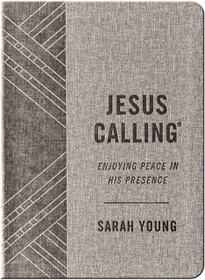 Jesus Calling: Enjoying Peace in His Presence, textured gray leathersoft, with full Scriptures - Young, Sarah