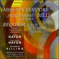 Jopeph Haydn: Missa in Tempore Belli; Jopeph Michael Haydn: Requiem B-dur - Andreas Schmidt (bass); Christoph Prégardien (tenor); Ingeborg Danz (alto); Michel Brodard (bass); Pamela Coburn (soprano);...