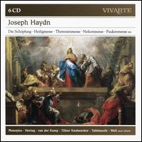 Joseph Haydn: Die Schöpfung; Heiligmesse; Theresienmesse; Nelsonmesse; Paukenmesse, Etc. - Ab Koster (natural horn); Ann Monoyios (soprano); Anner Bylsma (cello); Anthony Woodrow (double bass);...