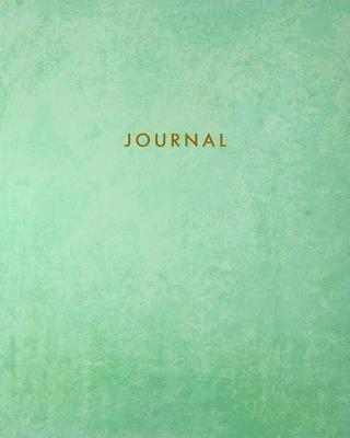Journal: Blank Lined Notebook Teal Green 8 X 10 - Tgr Media