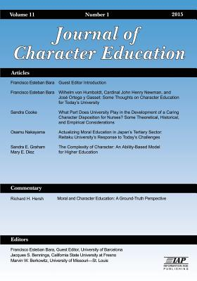 Journal of Research in Character Education, Volume 11, Number 1, 2015 - Benninga, Jacques S (Editor), and Berkowitz, Marvin W (Editor)