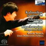 Kalinnikov: Symphony No. 1; Glazunov: Symphony No. 5; Khachaturian: Masquerade Suite