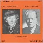Karin Branzell, Mack Harrell: Lieder Recital