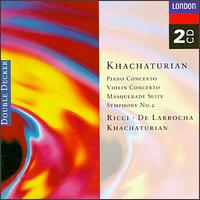 Khachaturian: Concerto for violin in Dm; Concerto for piano in Df - Alicia de Larrocha (piano); John Georgiadis (violin); Ruggiero Ricci (violin); Wiener Philharmoniker