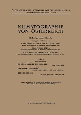 Klimatographie Von Osterreich - Steinhauser, F (Revised by), and Eckel, O (Revised by), and Lauscher, F (Revised by)