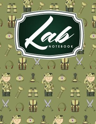 Lab Notebook: Laboratory Record Graph Note Book Diary for Primary Record of Research, Hypotheses, Experiments and Initial Analysis, Cute Army Cover - Publishing, Rogue Plus