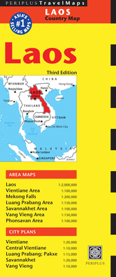 Laos Travel Map Third Edition - Periplus Editions (Editor)