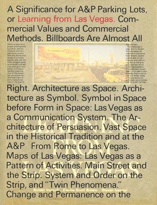 Learning from Las Vegas - Venturi, Robert, and Brown, Denise Scott, and Izenour, Steven