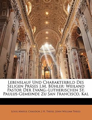 lebenslauf und charakterbild des seligen prases jm buhler weiland pastor der evang lutherischen - Paulus Lebenslauf