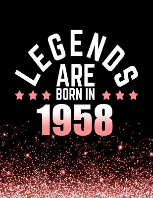 Legends Are Born in 1958: Birthday Notebook/Journal for Writing 100 Lined Pages, Year 1958 Birthday Gift for Women, Keepsake (Pink & Black) - Press, Kensington