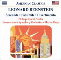 Leonard Bernstein: Serenade; Facsimile; Divertimento - Philippe Quint (violin); Timothy Walden (cello); Bournemouth Symphony Orchestra; Marin Alsop (conductor)