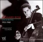 Leonard Rose Live in Recital, 1953-1960
