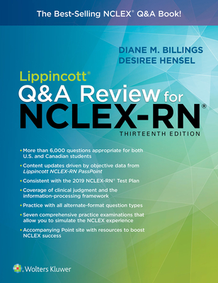 Lippincott Q&A Review for Nclex-RN - Billings, Diane, Edd, RN, Faan, and Hensel, Desiree