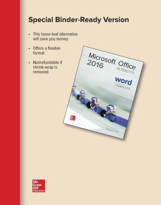 Looseleaf for Microsoft Office Word 2016 Complete: In Practice - Nordell, Randy, Professor, Ed
