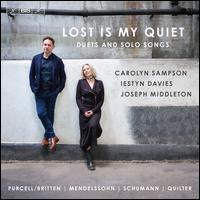 Lost Is My Quiet - Carolyn Sampson (soprano); Iestyn Davies (counter tenor); Joseph Middleton (piano)