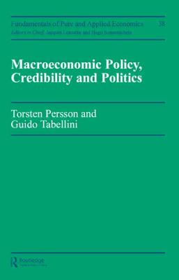 Macroeconomic Policy - Persson, Torsten, and Tabellini, Guido, and Marin, Alan