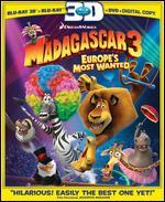 Madagascar 3: Europe's Most Wanted [3 Discs] [2D/3D] [Blu-ray/DVD] [Ultraviolet]