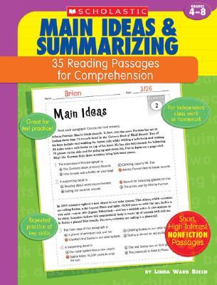 Main Ideas & Summarizing: Grades 4-8 - Beech, Linda Ward
