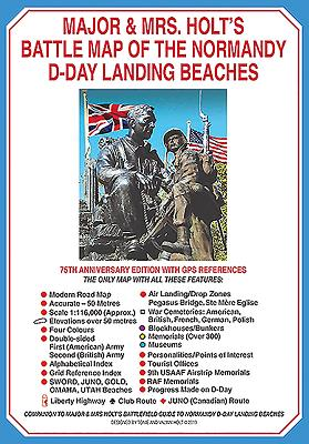 Major & Mrs Holt's Battle Map of The Normandy D-Day Landing Beaches (Map) - Holt, Tonie, and Holt, Valmai