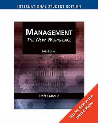 Management the new workplace book by richard l daft 2 available management the new workplace daft richard l and marcic dorothy fandeluxe Image collections