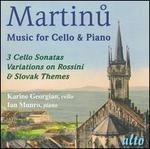 Martinu: Music for Cello & Piano