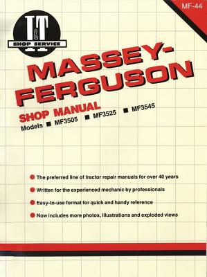Massey Ferguson Shop Manual Models Mf3505 Mf3525 & Mf3545 - Penton