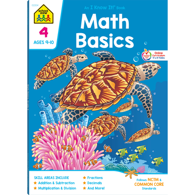 Math 4 Combo Book - School Zone Publishing, and Loughrin, Susan, and Gregorich, Barbara