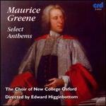 Maurice Greene: Select Anthems
