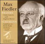 Max Fiedler Conducts Brahms & Schumann