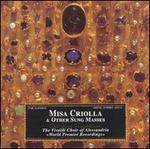 Misa Criolla and other Sung Masses