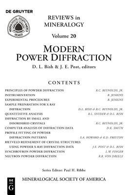 Modern Powder Diffraction - Bish, David L (Editor), and Post, Jeffrey E (Editor)