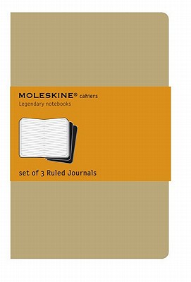 Moleskine Cahier Journal (Set of 3), Extra Large, Ruled, Kraft Brown, Soft Cover (7.5 X 10) Set of 3 Ruled Journals - Moleskine