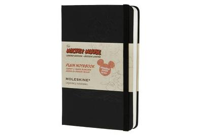 Moleskine Mickey Mouse Limited Edition Notebook, Pocket, Plain, Black, Hard Cover (3.5 X 5.5) - Moleskine