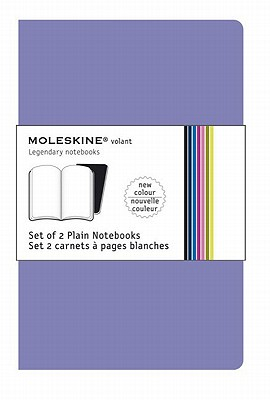 Moleskine Volant Notebook Plain, Purple Xsmall - Set of 2 - Moleskine