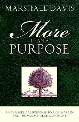 More Than a Purpose, an Evangelical Response to Rick Warren and the Megachurch Movement - Davis, Marshall