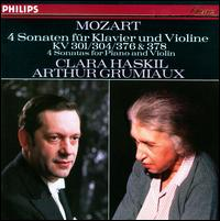 Mozart: 4 Sonaten für Klavier und Violine - Arthur Grumiaux (violin); Clara Haskil (piano)